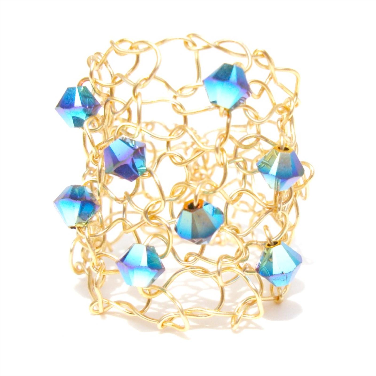75e6183886f4b2 Swarovski Crystal Mermaid Ring
